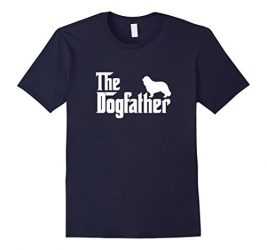 Mens Cavalier King Charles Spaniel – The DogFather T-Shirt Large Navy
