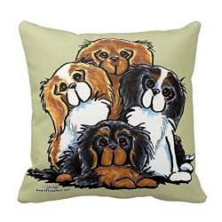 PocaBlife Vincent Vivi Fashion Pillow Cover Four Cavalier King Charles Spaniels Throw Pillow Case