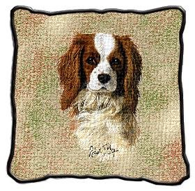 Cavalier King Charles Spaniel Pillow – 17 x 17 Pillow