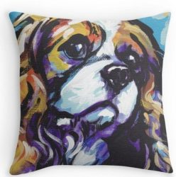 XiaoJJ Home Decorative Custom Cotton Cavalier King Charles Spaniel Dog Pillow Cases 18×18 Inch One Side by XiaoJJ