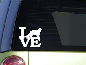 Cavalier Love 6″ STICKER *F160* DECAL cavalier king charles spaniel dog treats
