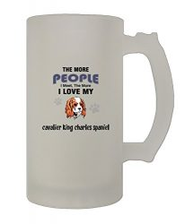More People Meet Cavalier King Charles Spaniel 16 Oz Frosted Glass Stein Mug