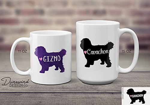 Cavachon Coffee Mug – Ceramic 11 or 15 oz – Cavalier King Charles Spaniel & Bichon Puppy Dog – Personalized/Customizable