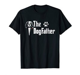 Mens The Dogfather Cavalier king charles spaniel Dog Dad Tshirt