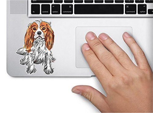 Dog cavalier king charles spaniel 3.5×3 inches sticker decal die cut vinyl – Made and Shipped in USA