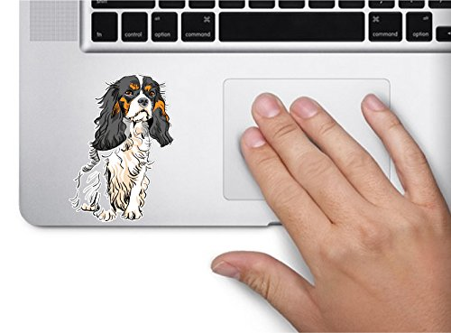 Dog #2 cavalier king charles spaniel 3.5×2.4 inches sticker decal die cut vinyl – Made and Shipped in USA