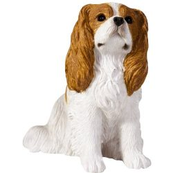 Sandicast Blenheim Cavalier King Charles Spaniel Sculpture, Sitting, Small Size
