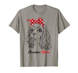 Cavalier King Charles Spaniel Mom Bandana Women T-shirt Gift