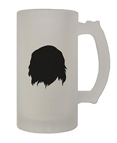 Cavalier King Charles Spaniel Silluette 16 Oz Frosted Glass Stein Beer Mug