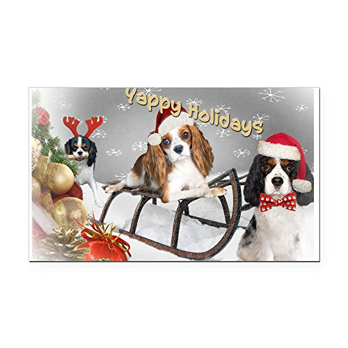 CafePress – Cavalier King Charles Christmas Fun Rectangle Car – Rectangle Car Magnet, Magnetic Bumper Sticker