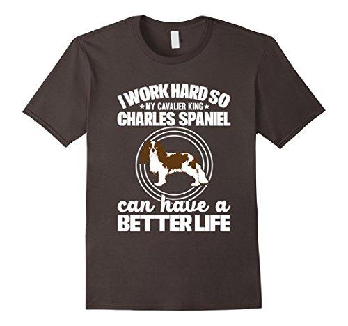 Mens Cavalier King Charles Spaniel Funny Gift T-Shirt 2XL Asphalt
