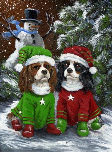 Cavalier King Charles Spaniel Snowman-LF