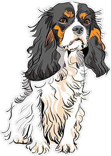 Dog #2 Cavalier King Charles Spaniel 7×4.9 inches man's best friend puppy animal america united states murica color sticker state decal die cut vinyl – Made and Shipped in USA