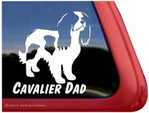 Cavalier Dad – Cavalier King Charles Spaniel Dog Vinyl Window Decal Sticker