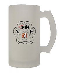 Paw My Cavalier King Charles Spaniel Dog 16 Oz Frosted Glass Stein Beer Mug