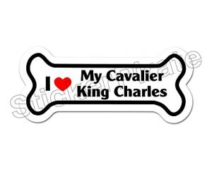 *Dog Bone Magnet* I Love My Cavalier King Charles Spaniel Car Truck Locker Magnet