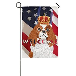Tomboy Cavalier King Charles dog Spaniel Garden Flags Spring Decorative welcome Flag 12 X 18