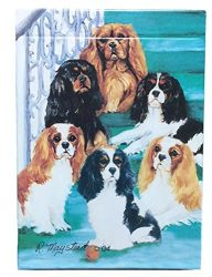 Best Friends Playing Cards, by Ruth Maystead – Cavalier King Charles Spaniel
