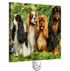 King Charles Spaniels – Cavalier Club Night Light From Doggylips
