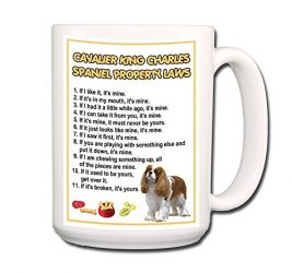 Cavalier King Charles Spaniel Property Laws Extra Large Coffee Tea Mug 15 oz No 2