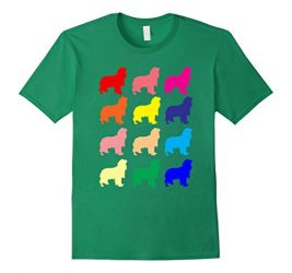 Mens Cavalier King Charles Spaniel lovers dog pop art gift t shir Large Kelly Green