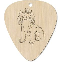 7 x 'Cavalier King Charles Spaniel' Engraved Guitar Picks / Pendants (GP00002391)