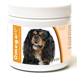 Healthy Breeds Dog Omega 3 Oil Soft Chews for Cavalier King Charles Spaniel – OVER 100 BREEDS – EPA & DHA Fatty Acids – Small & Medium Breed Formula – 60 Count