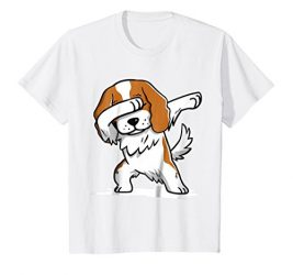 Kids Cavalier King Charles Spaniel Dabbing T-Shirt Dab Move Shirt 8 White
