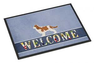 Caroline's Treasures BB5553MAT Cavalier King Charles Spaniel Welcome Doormat, 18 x 27, Multicolor