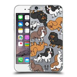 Head Case Designs Cavalier King Charles Spaniels Dog Breed Patterns 3 Soft Gel Case for Apple iPhone 6 / 6s
