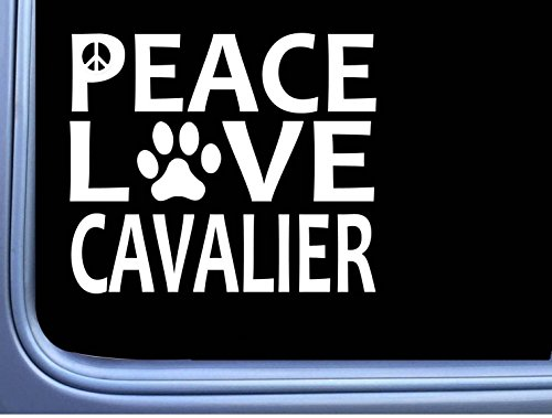 Cavalier King Charles Spaniel Peace Love L643 Dog Sticker 6″ decal