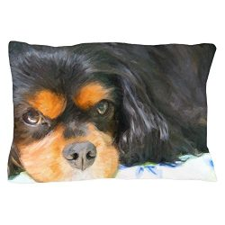 CafePress – Painted Black & Tan Cavalier – Standard Size Pillow Case, 20″x30″ Pillow Cover, Unique Pillow Slip