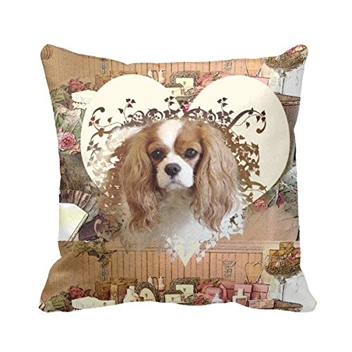 Percentage Home Pillow Dog Cavalier Cavalier King Charles Spaniel Cushion Covers 18 X 18