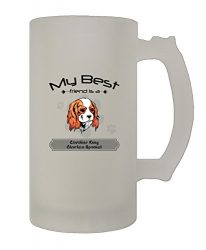 Friend Cavalier King Charles Spaniel Dog 16 Oz Frosted Glass Stein Beer Mug