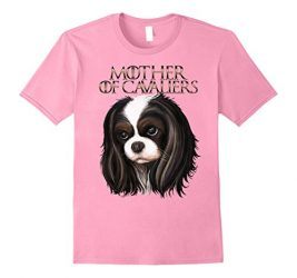 Womens Cavalier king charles spaniel t shirt XL Pink