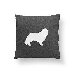 Christ-EZ Cavalier King Charles Spaniel Silhouette Pillowcase Pillow Case Cushion Cover Home Sofa Decorative One-Side 16×16 Inch