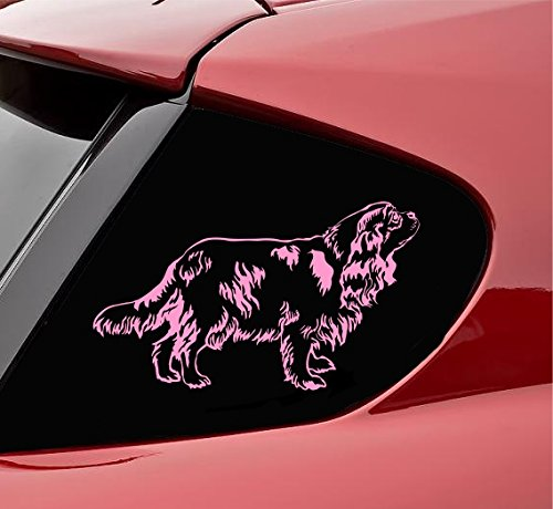 Cavalier King Charles Spaniel Vinyl Decal Sticker (Soft Pink)