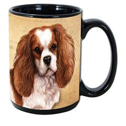 Imprints Plus Dog Breeds (A-D) Cavalier King Charles 15-oz Coffee Mug Bundle with Non-Negotiable K-Nine Cash (cavalier king charles 048)