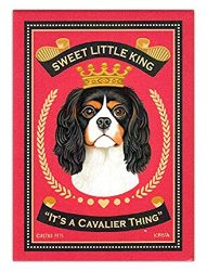 MFX Design Retro Dogs Stickers – Cavalier King Charles Spaniel – Art