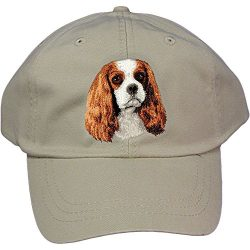 Cherrybrook Dog Breed Embroidered Adams Cotton Twill Caps – Stone – Cavalier King Charles Spaniel