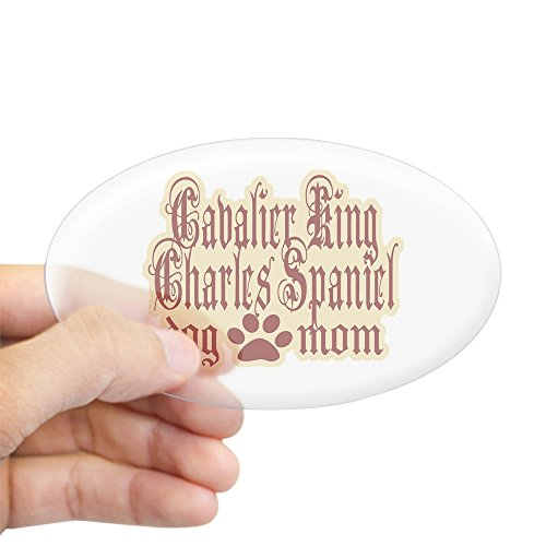 CafePress Cavalier King Charles Spaniel Oval Bumper Sticker, Euro Oval Car Decal