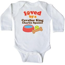 inktastic – Cavalier King Charles Long Sleeve Creeper Newborn White 1053b