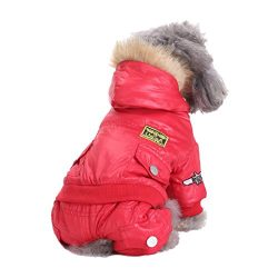 GabeFish Bomber Jackets For Pets Warm Padded Dogs Coats Cool USA Topgun Puppy Clothes Apparel 3 Colours Rede Medium