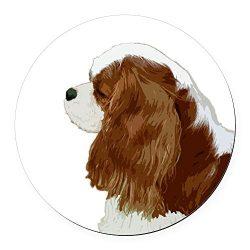 CafePress – Cavalier King Charles Spaniel Round Car Magnet – Round Car Magnet, Magnetic Bumper Sticker