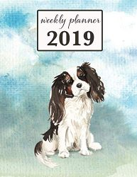 2019 Weekly Planner: Tri-color Cavalier King Charles Spaniel Dog – 12 Month Weekly Habit Tracker School Calendar Diary and Homework Organizer (Dog 2019 Weekly Calendar)