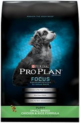 Purina Pro Plan Focus Small Breed Chicken & Rice Formula Dry Puppy Food – 18 Lb. Bag
