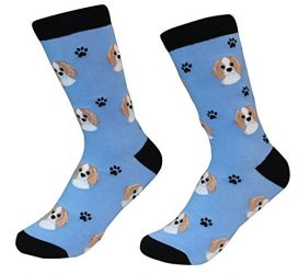 Cavalier King Charles Spaniel Dog Breed Socks Unisex Sock Daddy by E&S Pets