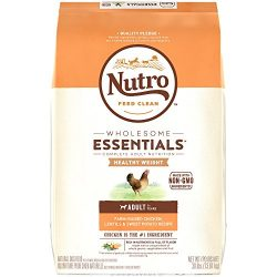 Nutro Wholesome Essentials Healthy Weight Adult Dry Dog Food Farm-Raised Chicken, Lentils & Sweet Potato Recipe, 30 Lb. Bag