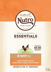 Nutro Wholesome Essentials Puppy Dry Dog Food Farm-Raised Chicken, Brown Rice & Sweet Potato Recipe, 15 Lb. Bag