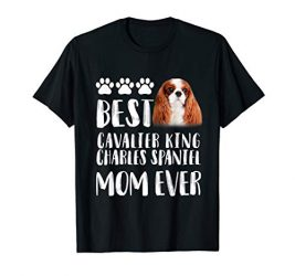 Best Cavalier King Charles Spaniel Mom T Shirt Dog Lover